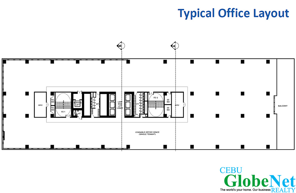Cebu business park corporate center for Corporate office layout design