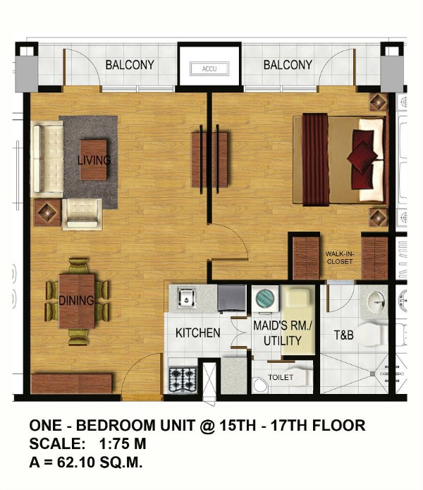 Arterra residences for 1 bedroom condo floor plans
