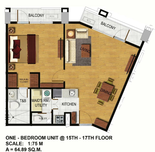 1-Bedroom-Unit-Floor-Plan