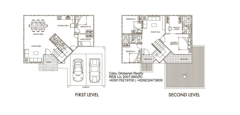Linden Floor Plan Pinecrest Subdivision Cebu City