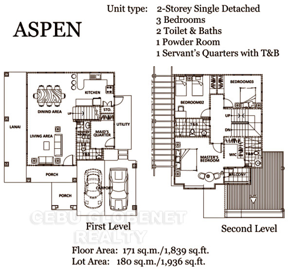 South Glendale Aspen Floor Plan