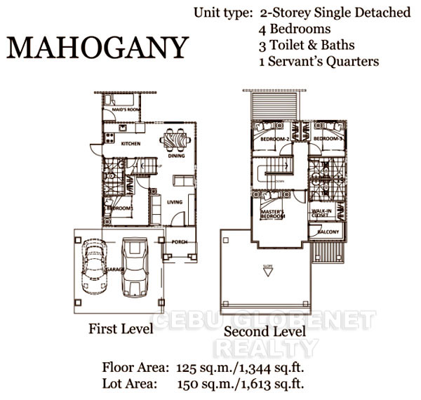 South Glendale Mahogany Floor Plan