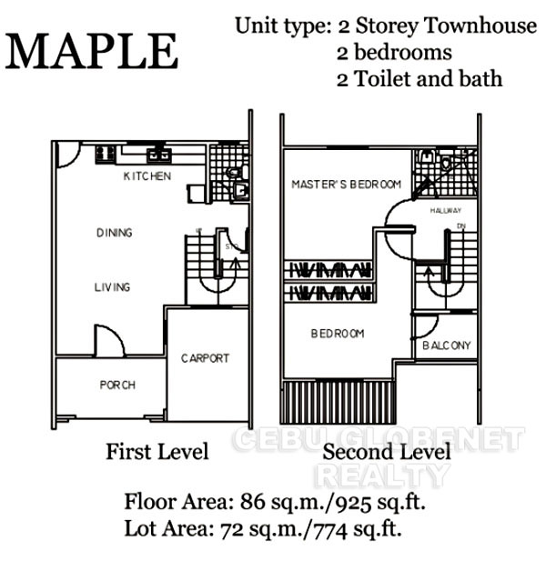 South Glendale Maple Floor Plan
