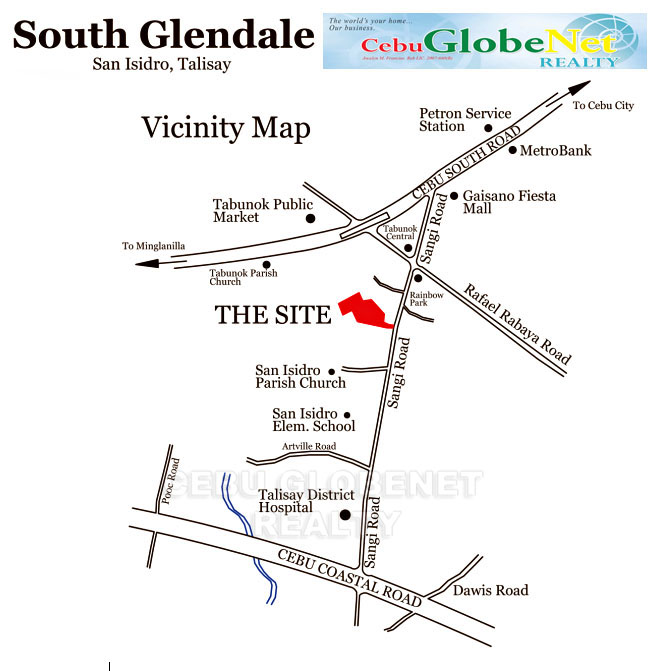 South Glendale Vicinity Map